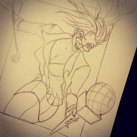 Janna #lol #leagueoflegends #pencils #illustration #characterdesign #sketching #anime #animegirl