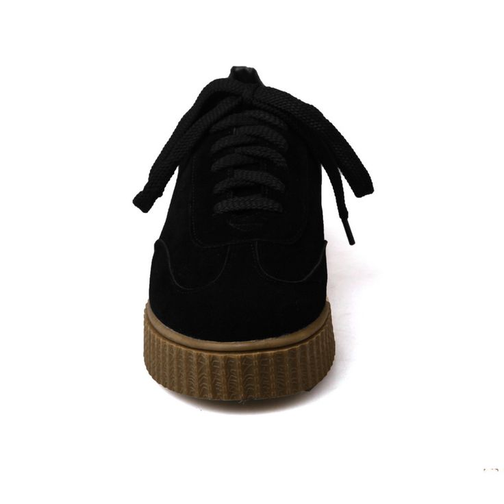 Cheap Odetina 2017 Spring New Womens Creepers Shoes Outdoor Casual Women Trainers Black Classic Round Toe Lace. Click visit to buy