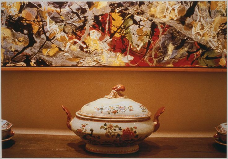 Pollock and Tureen, Arranged by Mr. and Mrs. Burton Tremaine, Connecticut  [Louise Lawler] | Sartle - See Art Differently