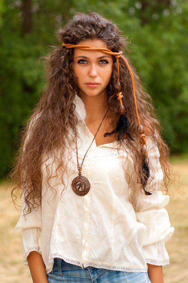 Hippie-Frisur mit Kordel. Einfach und genial