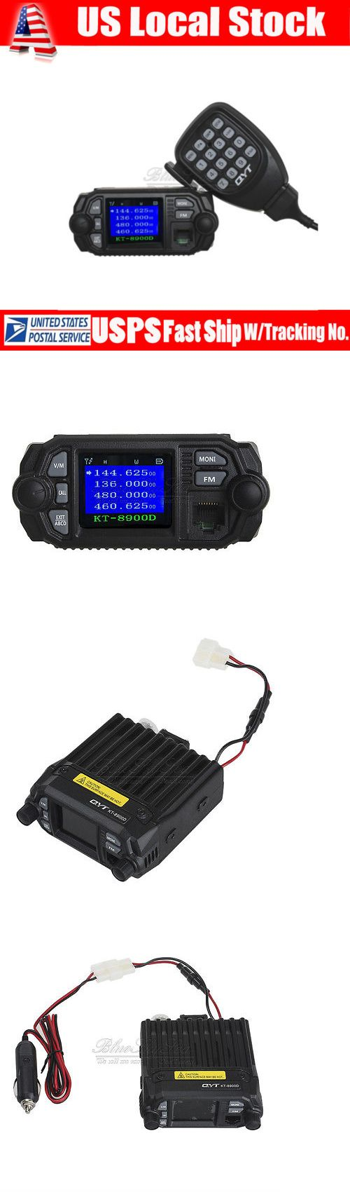 Ham Radio Transceivers: Qyt Kt-8900D Dual Band Vhf Uhf 25 Watt Quad-Standy Car Mobile Fm Radio Mic 25W BUY IT NOW ONLY: $88.9