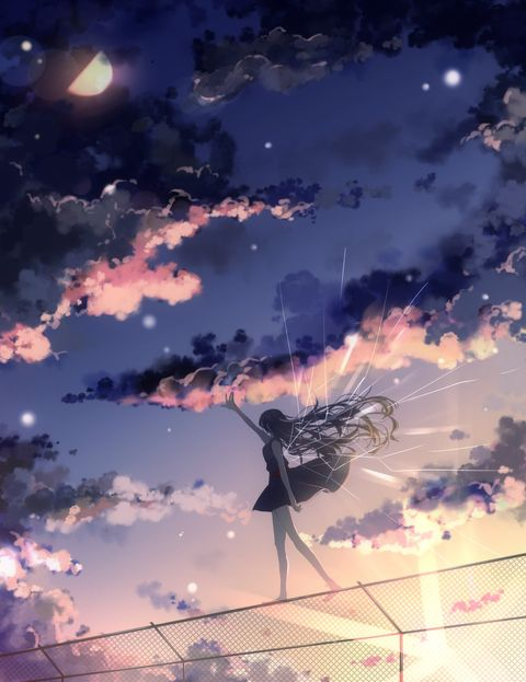 Vocaloid Song - Dawn & Fireflies / Yoruake to Hotaru (夜明けと蛍) - 「夜明けと蛍」/「ちゅんころもち」のイラスト [pixiv]