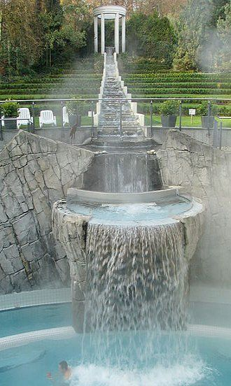 Thermal Waterfall Spa, Aachen, Germany! Great information #legatotravel