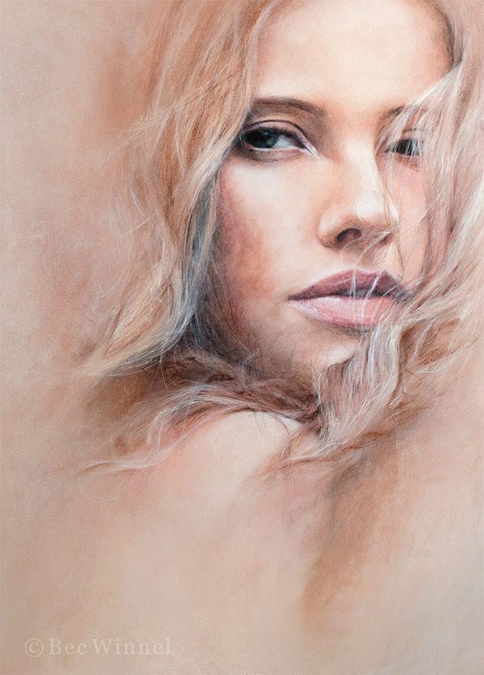 Bec Winnel Bannie. Pastel on Paper. 50 x 70 cm. 2010