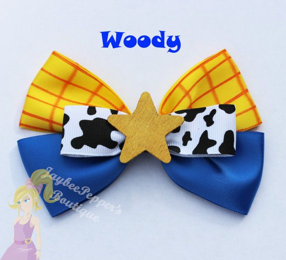 Woody hair bow Toy Story Hair bow cowboy cowgirl custom ribbon girls vacation