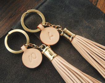 Personalizados regalo de cuero cuero bagcharm borla de cuero