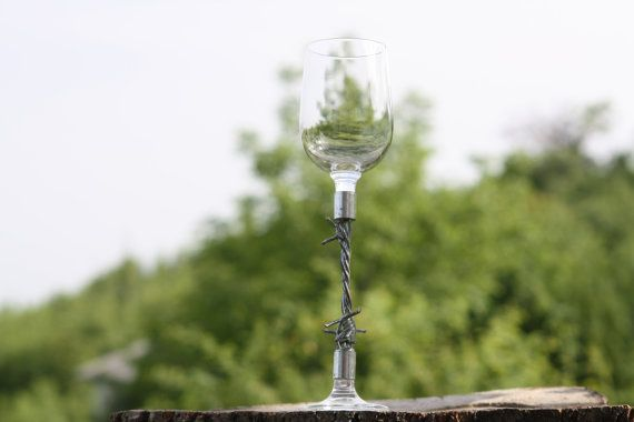 Wine Glass Wire Glass Wire-stemmed Glass Collectible by Diamir