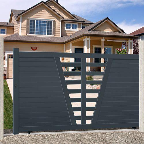 1000 id es sur le th me portail aluminium coulissant sur pinterest cloture en aluminium. Black Bedroom Furniture Sets. Home Design Ideas
