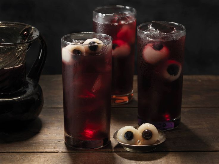 blueberry rickety eyeball punch - Easy Alcoholic Halloween Punch