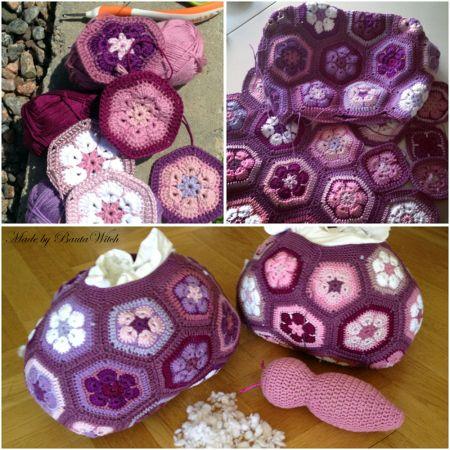 DIY – Fjärilskudde av afrikanska blommor   BautaWitch