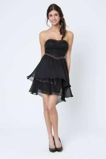 Tally Weijl, black embellished bustier dress