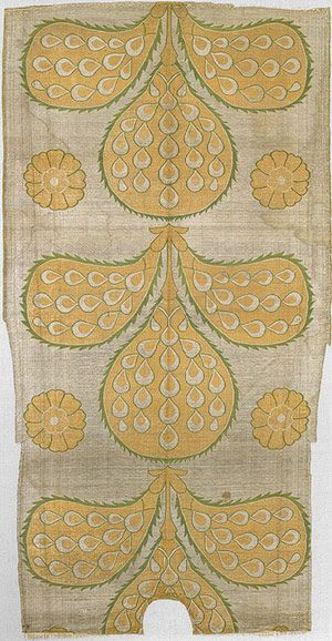 Panel from a kaftan, mid-16th century; Ottoman Turkey (Istanbul) Silk and metallic threads, compound weave
