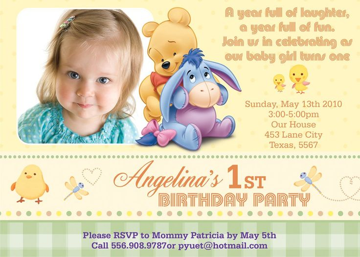 2324 best Baby Shower Invitation Ideas images – One Year Old Birthday Invitation