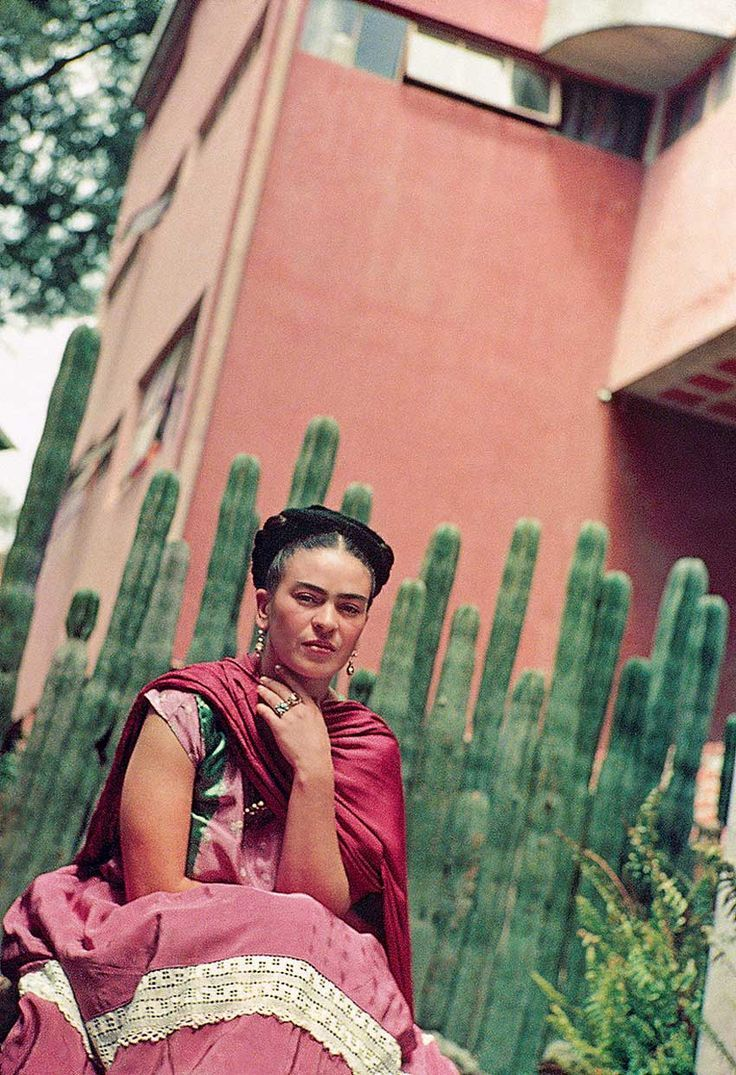 Photograph of Frida Kahlo in Mexico City