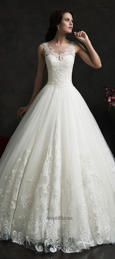 This with less volume at the bottom. More free and flowy, less ball gown. Amelia Sposa 2015 Wedding Dress - Eliza