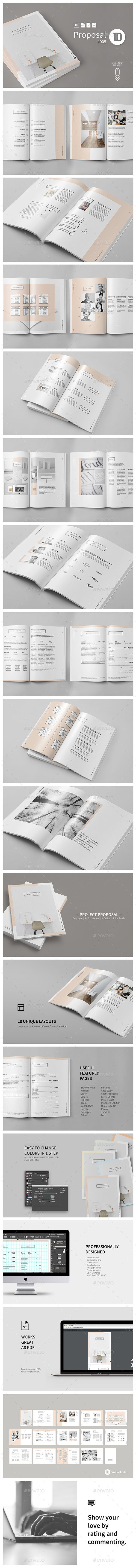 Project Proposal Template 005 Minimalist  — EPS Template #indesign #a4 #form…