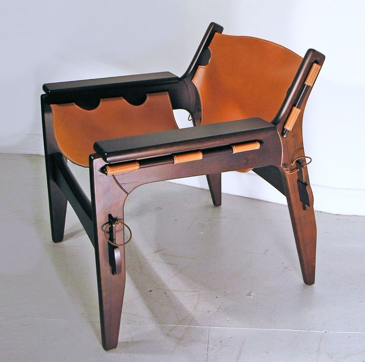 Sergio Rodrigues Kilin Chair In Leather And Imbula Wood Image 2