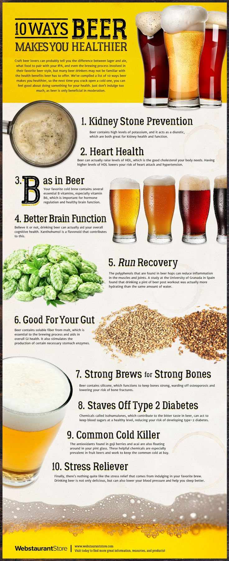 10 Ways Beer Makes You Healthier                                                                                                                                                      More  #craftbeer #beer