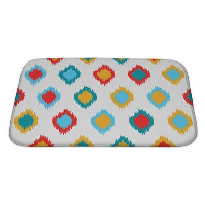 Gear New Delta Ikat Asian Traditional Pattern, Bath Mat/Rug Size: