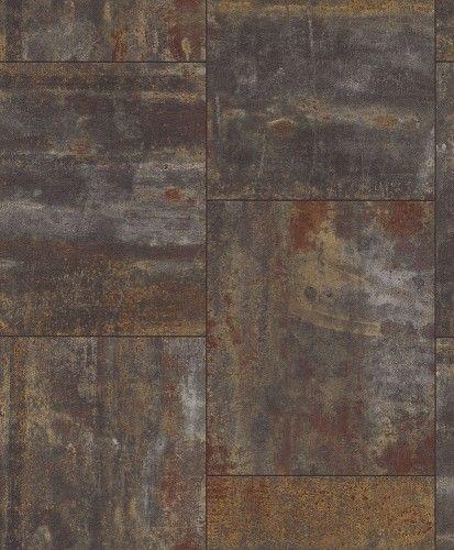 Tapete Rost Metall Used Patina Rasch Braun Rot 318005