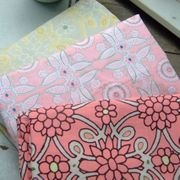 Pretty flower print fabric. They also have some fun ones for kids.