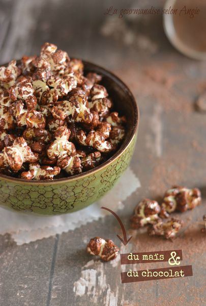 pop corn maison au chocolat