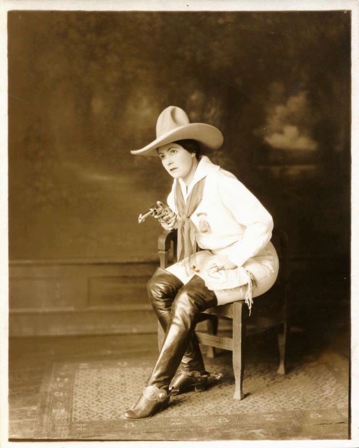 Fair Haired Maiden Of The West Vintage Cowgirls