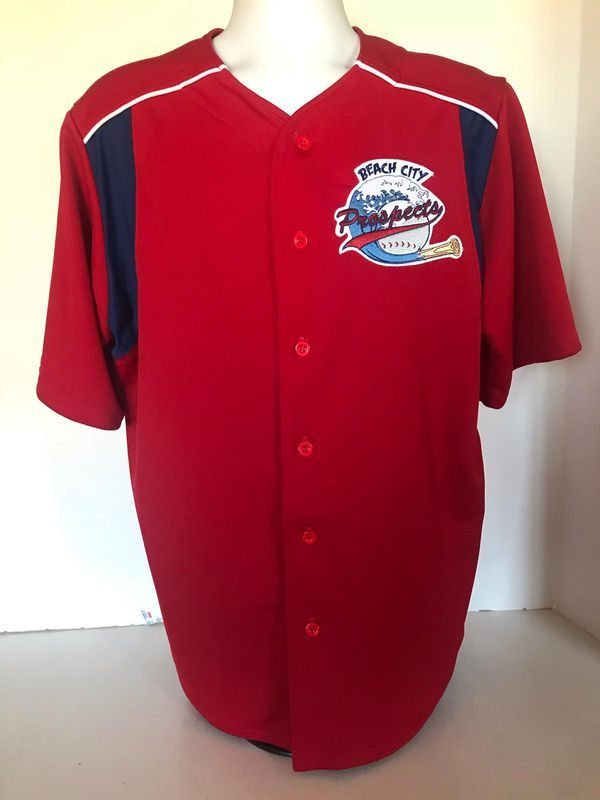 Beach City Prospects Baseball Red Sewn Jersey Team Size L Academy For Sale In Long Beach Ca Baseball Long Beach City