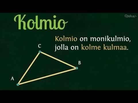 Kolmiot | Opetus.tv (neljä videota 0:38-2:58).