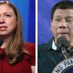 Philippine President Rodrigo Duterte hit Chelsea Clinton below the belt after she ridiculed his