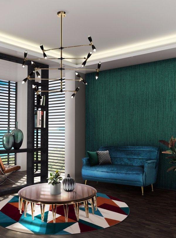 See more mid-century modern blue interior design inspirations at http://essentialhome.eu/