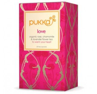 Love tea is a unique blend of fragrant herbs with fantastic soothing properties. Drink Love tea to help you feel cherished and well nourished, night and day. www.pukkaherbs.com