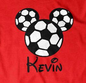 Custom Soccer mouse ears boys shirt