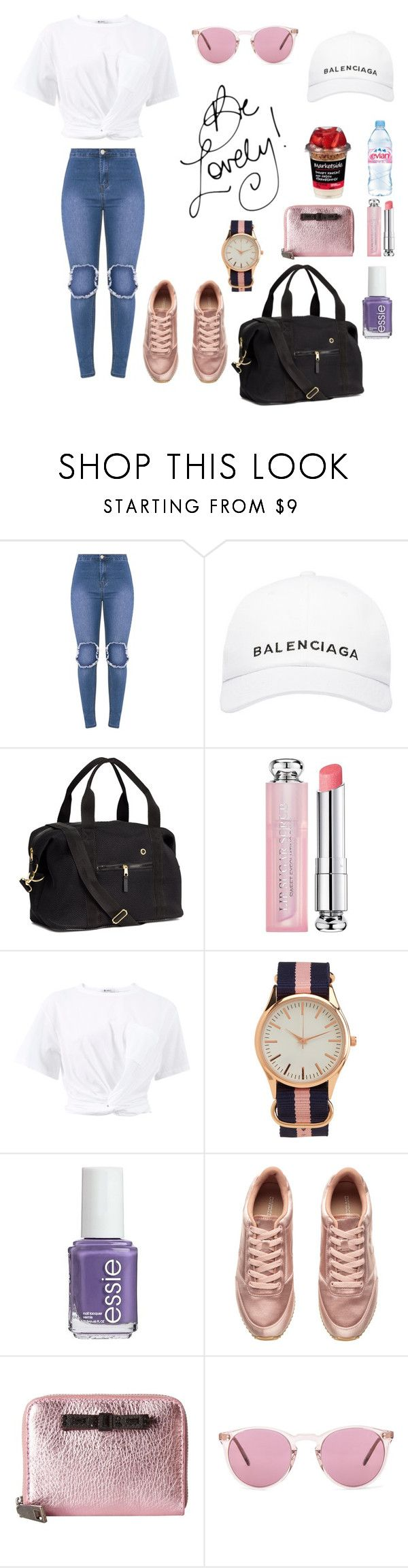 """Lovely Afternoon Walk⛅️👟"" by stylebyceylin ❤ liked on Polyvore featuring Balenciaga, H&M, Evian, Christian Dior, T By Alexander Wang, Aéropostale, Essie, Marc Jacobs, TC Fine Intimates and Oliver Peoples"