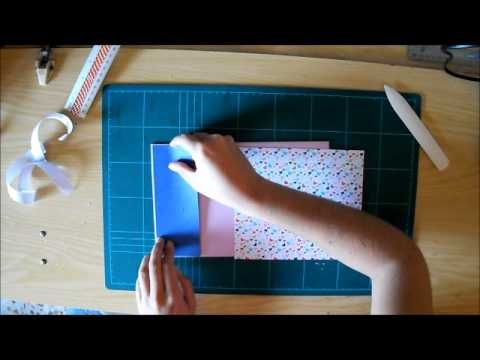Tutorial libro de firmas con lazo - YouTube
