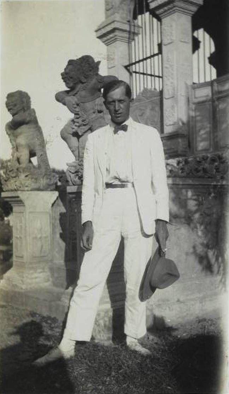Unpublished photo of Walter Spies, taken in Karangasem, Bali. Between August and October 1927.