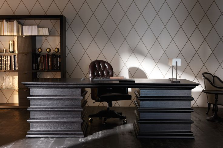 Manon Desk with Georges Desk Chair made in Italy by Opera Contemporary. Available at Sarsfield Brooke