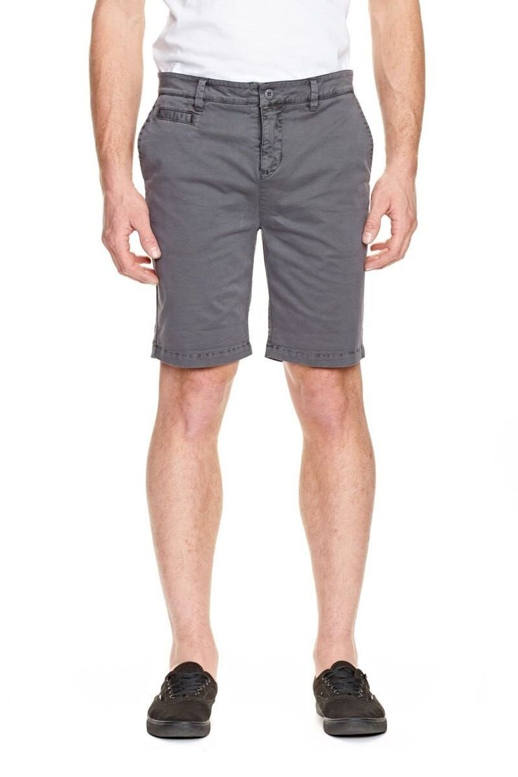 ELWOOD CLOTHING - Ethan Chino Short Steel