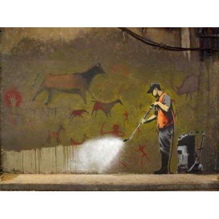 Posterazzi Leake Street London-graffiti attributed to Banksy Canvas Art - Anonymous (22 x 28)