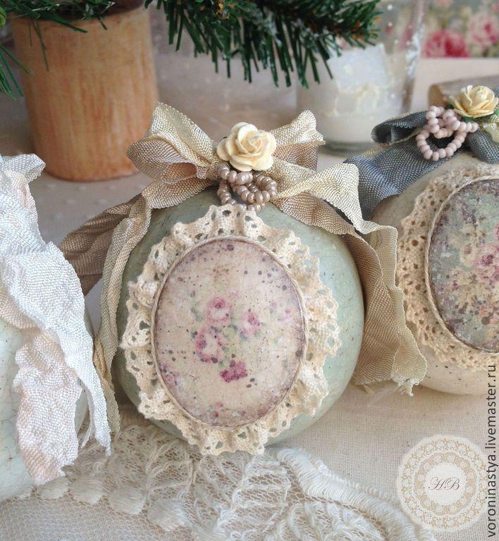 Купить Шарики Rococo - Декупаж, Новый Год, шар, новогодний шар, елочный шар…
