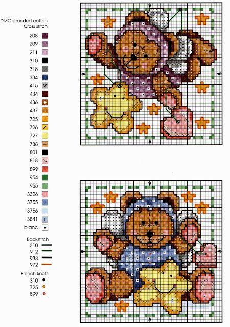 17 migliori idee su orsetti per bambini su pinterest for Decorazioni punto croce bambini