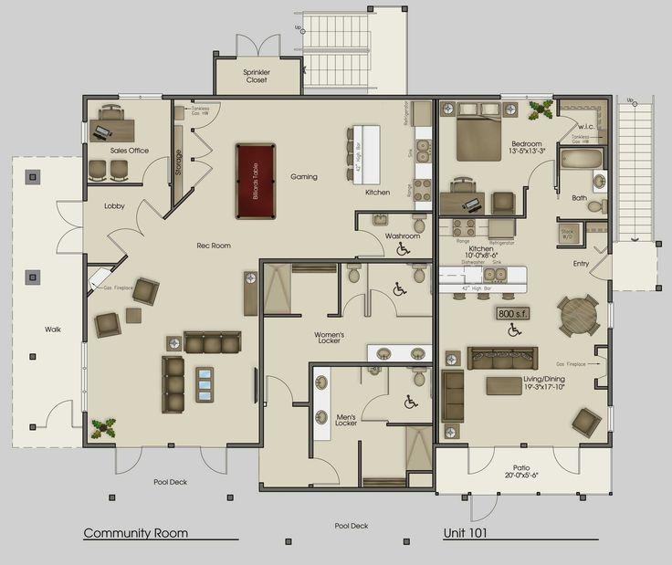 Mega Villa Plans Clubhouse Plan Pictures Apartments Sample