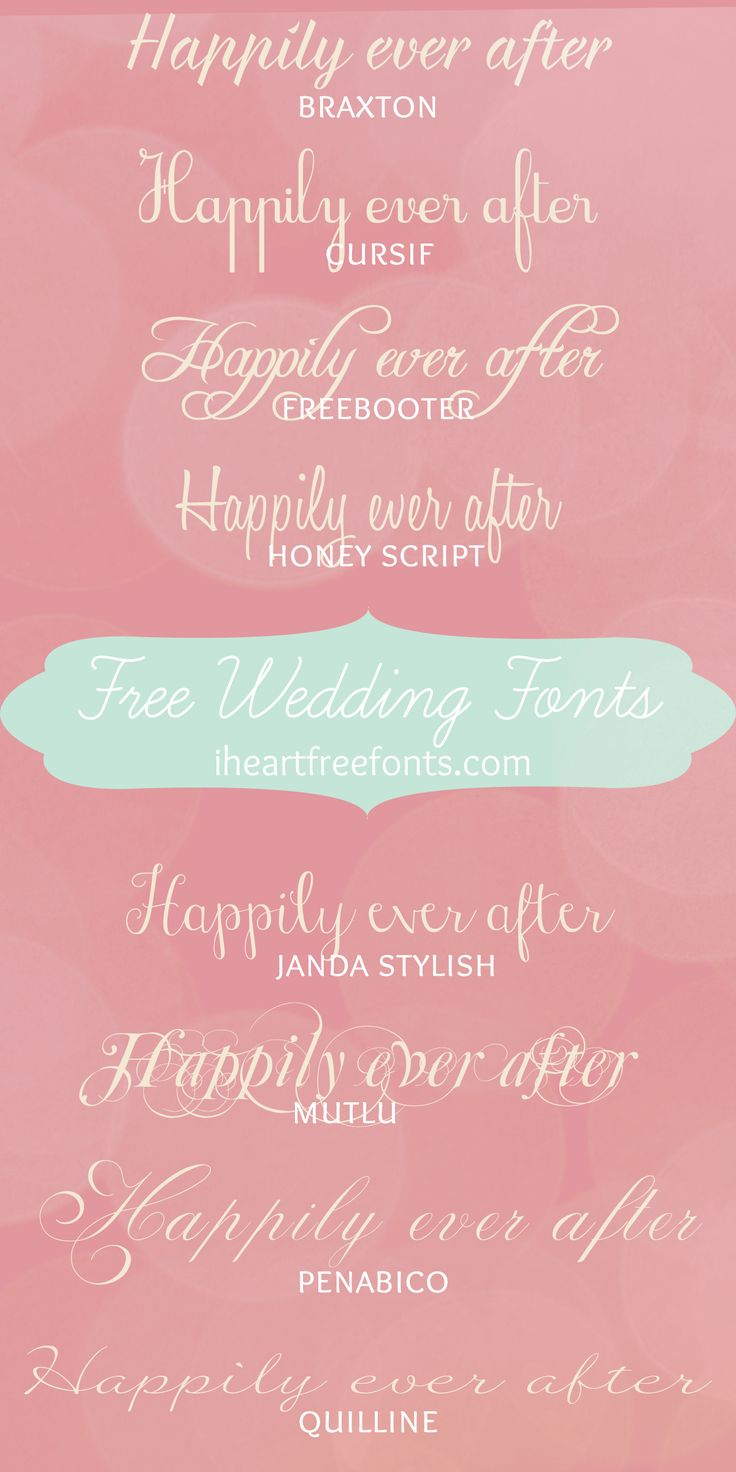 Wedding Fonts for Free