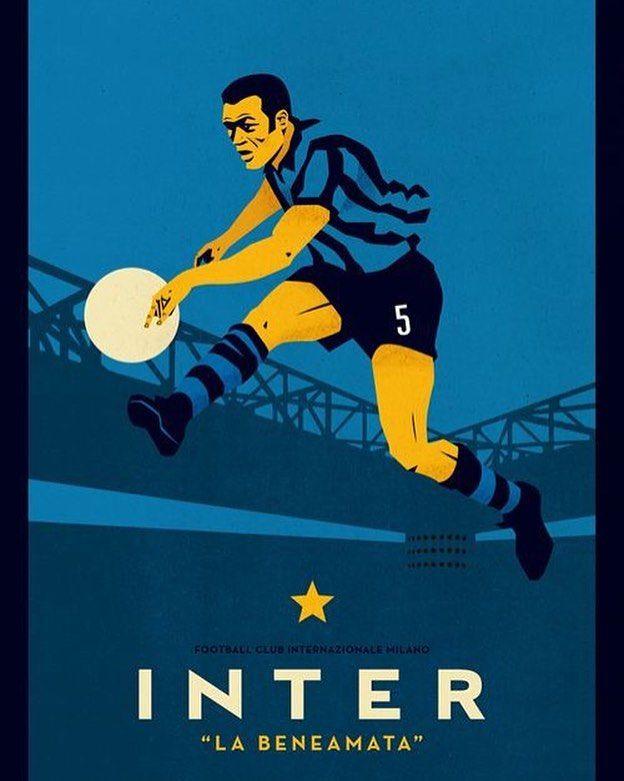 La Beneamata #vintage #inter #fcim #internazionale #fcinternazionale #nerazzurro #football #oldschool #design #poster #beautiful #creative #beneamata #solointer