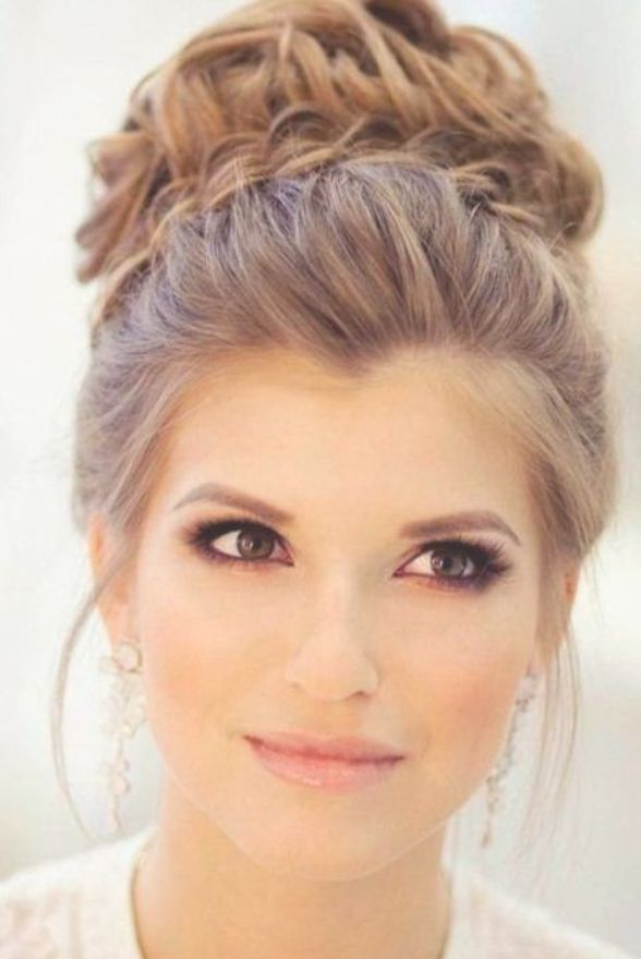Looking For Gorgeous High Bun Hairstyles You Are In The Right Place Here Are Visually Stunnin Short Wedding Hair Wedding Hair Front Simple Wedding Hairstyles
