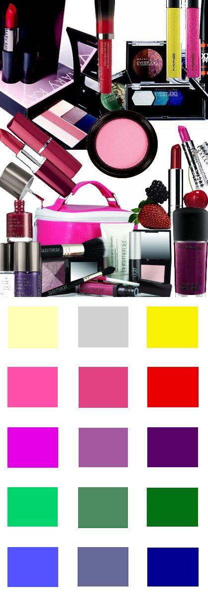 make-up kleuren voor het wintertype. Kleuren en Kleurcombinaties voor kleding haar en make-up #kledingkleuren www.coloru.nl