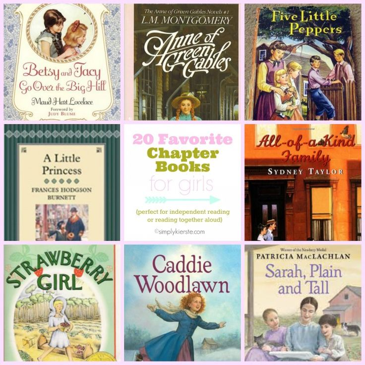 20 BEST & Favorite Chapter Books for Girls (a couple even the boys would like too!) for ages 8-12!  This is a list of beloved books for generations, that you want to pass on to your kids!  #simplykierste #chapterbooksforgirls