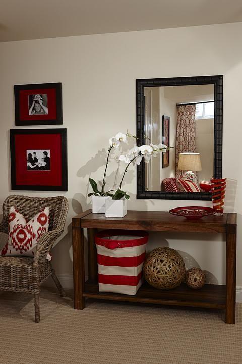 Sarah richardson sarah 101 red basement den console for Room design 101