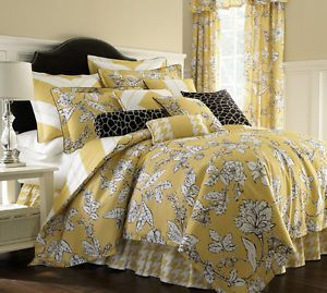 Shelton 6pc Yellow Comforter Set New by Cote Couture | eBay
