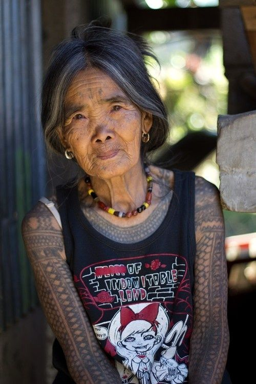 """Absolutely beautiful woman.  To all those who think tattoos will look """"foolish"""" as we age..."""